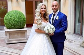 Андрей и Кристина Черкасовы отпраздновали первую годовщину свадьбы
